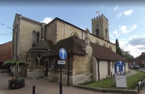 Clay roof on St Mary & St Giles Church, Stony Stratford, Milton Keynes
